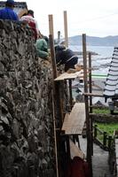 外泊石垣修復1
